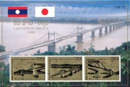 LAOS - 2000 - Mi 1721-1723 + BL.180A - LAO-JAPAN BRIDGE - SPECIAL OFFER 57% OFF - MNH ** - Laos