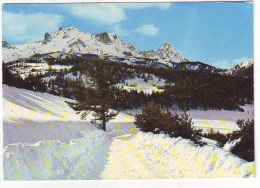 Cpm Cpsm -  Les Alpes En Hiver- Au-dessus De BARCELONNETTE , Le Chapeau De Gendarme Et Le Pain De Sucre - France