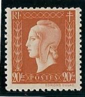 A. 1945 - Neuf**- Y.T. N° 700 - Marianne De Dulac - - 1944-45 Marianne De Dulac