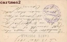 CACHET MILITAIRE DU 3eme REGIMENT D'ARTILLERIE LOURDE 2e GROUPE 5e COLONNE LEGERE DOULLENS GUERRE SOMME - Marcophilie (Lettres)
