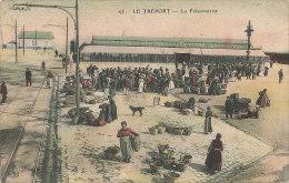 S S 227 /      C P A -LE TREPORT      (76)   LA POISSONNERIE - Le Treport