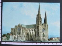 LA CATHEDRALE ET LA PORTE GUILLAUME - CHARTRES - 2 Scans (Nº06689) - Chartres