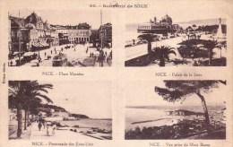 Nice.  -  Souvenir De Nice;   (met Plakkers)  1938  Naar Bruxelles - Monumenten, Gebouwen