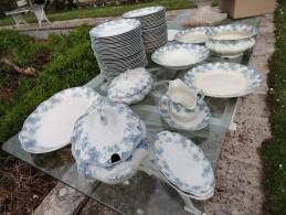 LOT DE 66 PIÈCES ROYAL UPPER HANLEY POTTERY CO ENGLAND SEMI PORCELAIN VICTORIA 1895 - 1900 - Céramiques