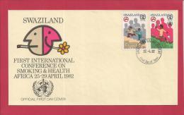 SWAZILAND, 1982,  Mint FDC , Smoking & Health,   Nr(s) 396-397,  F 3488 - Swaziland (1968-...)