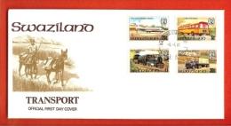 SWAZILAND, 1981,  Mint FDC , Transport,   Nr(s) 367-370,  F 852 - Swaziland (1968-...)
