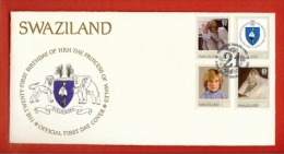 SWAZILAND, 1982,  Mint FDC , Diana 21 Years,   Nr(s) 403-406,  F 858 - Swaziland (1968-...)