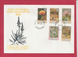 SWAZILAND, 1980,  3 X Mint FDC , Flowers,   Nr(s) 339-353,  F 3480 - Swaziland (1968-...)