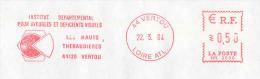 EMA NEOPOST Type HR Avec Publicité Thème Handicap, Aveugles, Déficients Visuels - Marcophilie (Lettres)