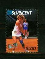 St Vincent 1987, 1V, Tennis,missing Ball, Chris Evert,Error,,MNH/Postfr (A1321) - Tennis