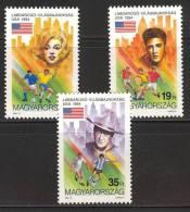 HUNGARY - 1994. World Cup Soccer Championships/Marilyn Monroe/Elvis Presley/John Wayne MNH! Mi 4298-4300. - Nuovi