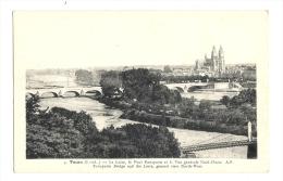 Cp, 37, Tours, La Loire, Le POnt Bonaparte, Et La Vue Générale NOrd-Ouest - Tours