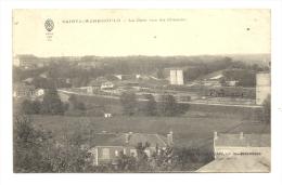 Cp, 51, Sainte-Menehould, La Gare Vue Du Château, Voyagée - Sainte-Menehould