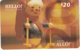 CANADA - Hello Prepaid Card $20, 09/95, Used - Canada