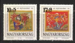 HUNGARY - 1993. Textile Art By Erzsébet Szekeres / Youth Philately  MNH! Mi 4238-4239. - Ungebraucht