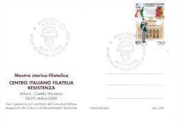 VA25  Italia 2000 - Cartolina Con Annullo Speciale ITALFOR Mostra Storico-filatelica C.I.F.R. - Militaria