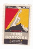 Vignette Foire Comtoise Besançon 1932 - Fantasy Labels