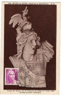 CARTE MAXIMUM TIMBRE Marianne De Gandon 15F  Musée De Dijon  Buste De La Marseillaise 1946 - Cartes-Maximum