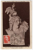 CARTE MAXIMUM TIMBRE Marianne De Gandon 25F  Musée De Dijon  Buste De La Marseillaise 1946 - Cartes-Maximum