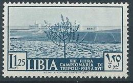 1939 LIBIA 13° FIERA DI TRIPOLI 1,25 LIRE MNH ** - ED227 - Libia
