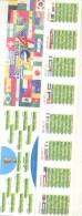 FIXTURE BRASIL 2014 FIFA WORLD CUP - CAMPEONATO DEL MUNDO BRASIL AÑO 2014 SEÑALADOR EXTRA LARGO MARCAPAGINAS - Marque-Pages