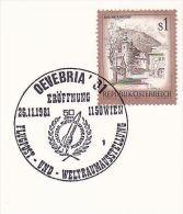 1981 OEVEBRIA ROCKET Anniv EVENT Pmk COVER Austria Stamps - Covers & Documents