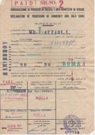 Dichiarazione Di Possesso Di Valuta E Oro Monetario In Verghe - Dogana Somala - Mogadiscio - 1971 - Fatture & Documenti Commerciali