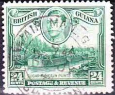 British Guiana - 1938 - 1952 - King George VI - Sugar Cane In Punts - British Guiana (...-1966)