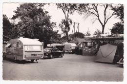 Juan Les Pins - Camping Du Pont Du Lys (centre Ville) à 20 M. De La Mer (caravane Anglaise, Voitures, Bar, Vente CP)1958 - Antibes