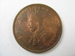 AUSTRALIA  1 ONE PENNY HIGH GRADE COPPER  COIN 1913 LOT 22 NUM 16 - Victoria