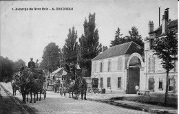 91 YERRES AUBERGE DE GROS BOIS  PROPRIETAIRE  A. COUDREAU     VOITURES  ATTELLEES  BERLINE  BELLE ANIMATION - Yerres