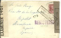 CARTA CENSOR SPAIN 1941  ESCANER - Vereinigte Staaten