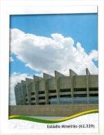 FIGURINE PANINI NUOVE - MINT STICKERS BRASIL WORLD CUP 2014 - BRAZILIAN STADIUM - ESTADIO MINEIRAO - N.8 - Panini