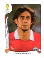 FIGURINE PANINI NUOVE - MINT STICKERS BRASIL WORLD CUP 2014 - CHILE - JORGE VALDIVIA - N.155 - Panini