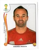 FIGURINE PANINI NUOVE - MINT STICKERS BRASIL WORLD CUP 2014 - SPAIN - ANDRES INIESTA - N.119 - Panini