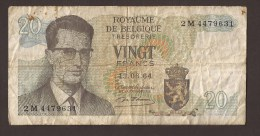 België Belgique Belgium 15 06 1964 20 Francs Atomium Baudouin. 2 M 4479631. - [ 6] Staatskas