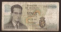 België Belgique Belgium 15 06 1964 20 Francs Atomium Baudouin. 2 N 9706201. - [ 6] Treasury