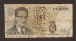België Belgique Belgium 15 06 1964 20 Francs Atomium Baudouin. 2 O  8298194. - [ 6] Trésorerie