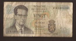 België Belgique Belgium 15 06 1964 20 Francs Atomium Baudouin. 2 O  5485350. - [ 6] Tesoreria