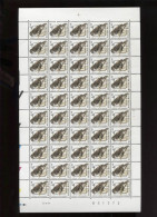 Belgie Buzin Vogels 6.5fr PRE829A S2 Volledig Vel Drukdatum 23/9/1994 Plaatnummer Numéro De Planche 1 - 1985-.. Vogels (Buzin)