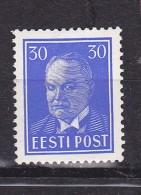 ESTONIE N° 143C  30S BLEU VIF  EFFIGIE DU PRESIDENT PATS NEUF AVEC CHARNIERE - Estonie
