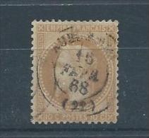 FRANCE N° 28A  T. B.  Pas D´aminci - 1863-1870 Napoléon III Con Laureles