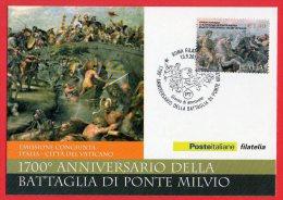 [MD0035] 1700° ANNIVERSARIO DELLA BATTAGLIA DI PONTE MILVIO - CON ANNULLO 13.9.2012 - Storia