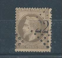 FRANCE  N° 30 Oblitéré  T.b Pas D´aminci - 1863-1870 Napoléon III Con Laureles