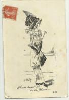 Cpa  ILLUSTRATEUR  Roberty      , FEMME Avec CHAPEAU, Avant Dernier Cri De La Mode - Illustrators & Photographers