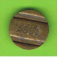 040  #  Spielmarke - Jeton - AQUA - Profesionales/De Sociedad