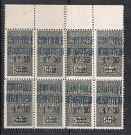 ALGERIE COLIS POSTAL N°17 N** En Bloc De 8 - Algérie (1924-1962)