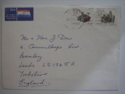 South Africa 1990 Commercial Cover Lettre Brief To England 20c + 30c - Unclassified