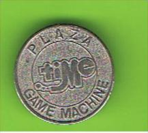 052  #  Spielmarke - Jeton - PLAZA GAME MACHINE - Profesionales/De Sociedad