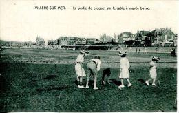 N°38022 -cpa Villers Sur Mer -la Partie De Croquet Sur Le Sable à Marée Basse- - Villers Sur Mer